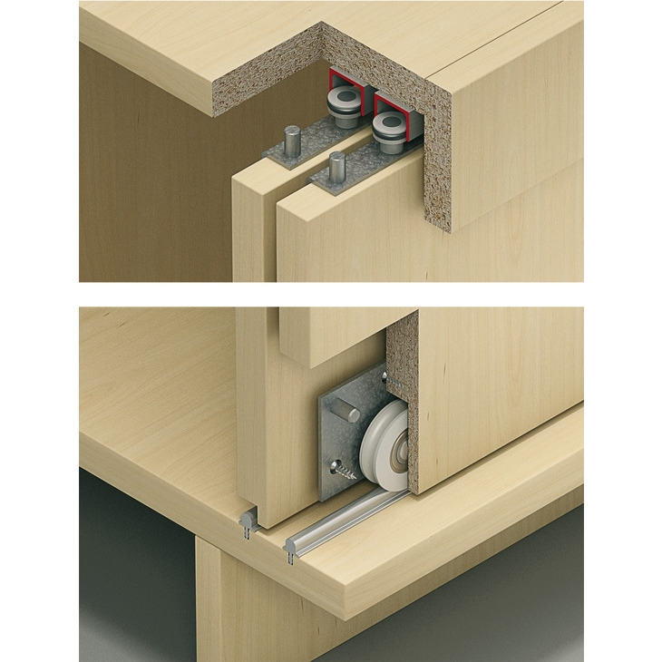 Bottom Rolling Sliding Hardware for Wood