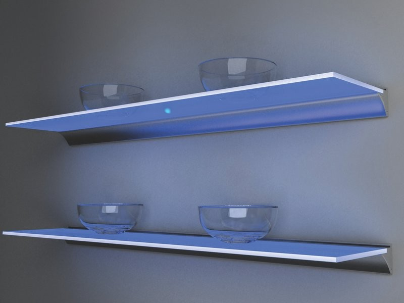 Hartert-Russell-Home LED Floating Illuminated Shelf